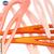 épingle cheveux création Française couleur rose ou orange