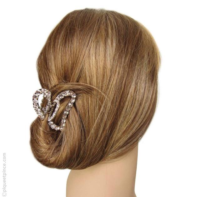 pince cheveux accessoires cheveux bijoux de cheveux strass coeur. Black Bedroom Furniture Sets. Home Design Ideas