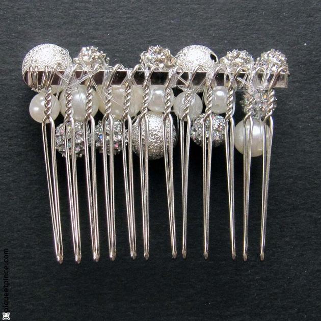 peigne cheveux accessoire cheveux mariage perles. Black Bedroom Furniture Sets. Home Design Ideas