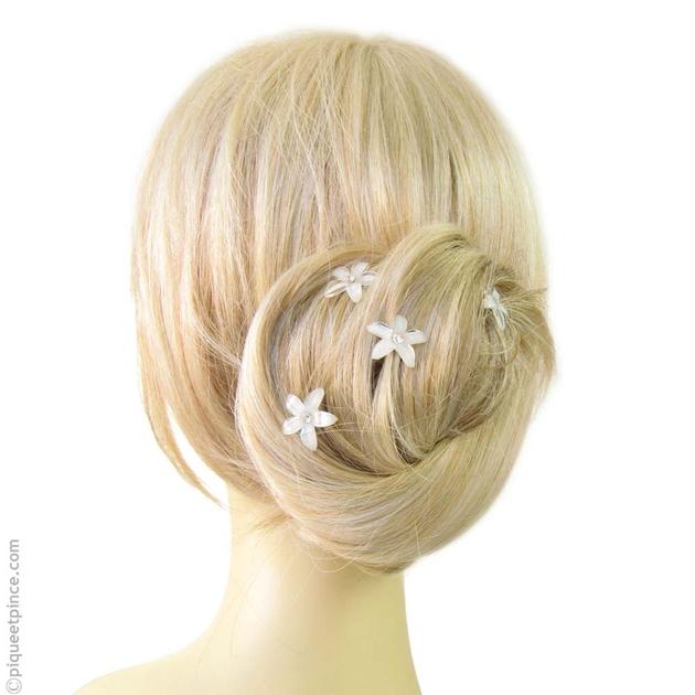 Pics Cheveux Accessoire Cheveux Petite Fleur De Cristal Blanc
