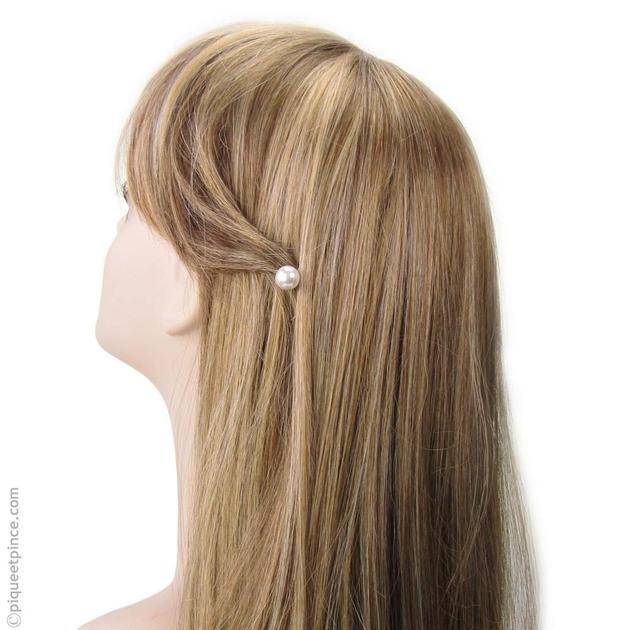 barrette perle blanche accessoires cheveux mariage. Black Bedroom Furniture Sets. Home Design Ideas