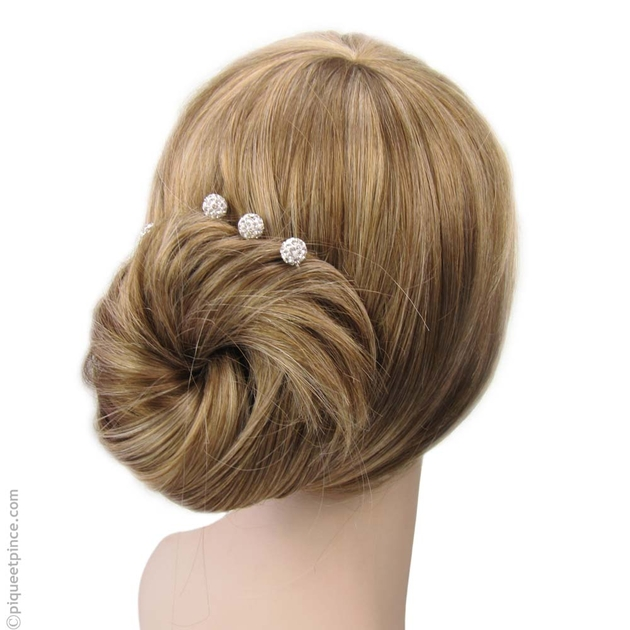 pingle chignon mariage strass blanc