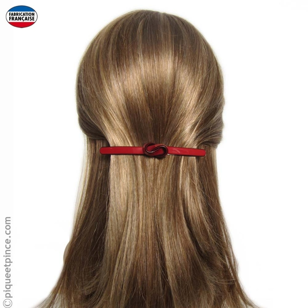 barrette cheveux noeud rouge. Black Bedroom Furniture Sets. Home Design Ideas