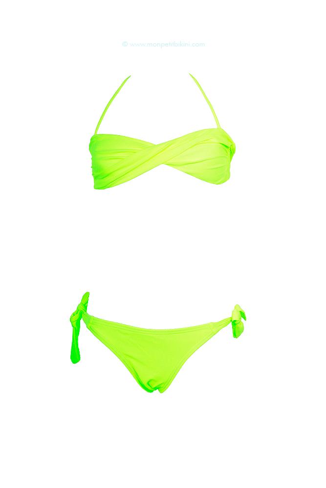 a64c3d236f3b Bikini niña color amarillo fluorescente