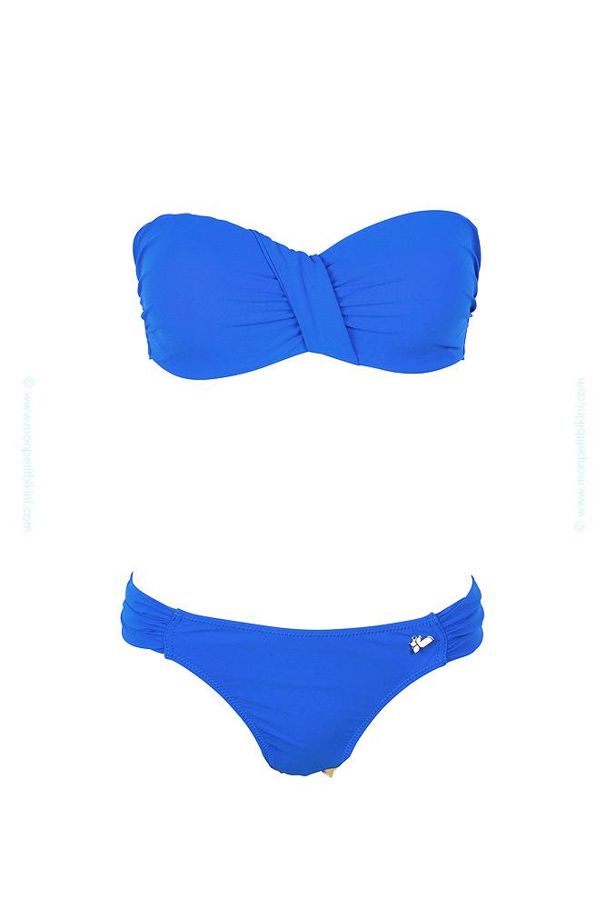 Trajes De Baño Azul Rey: Traje de baño de 2 piezas Lolita Angels – Bandeau push-up azul rey