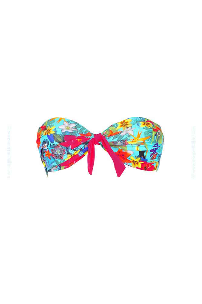 Trajes De Baño Color Turquesa:Bikini bandeau Banana Moon – Traje de baño azul turquesa