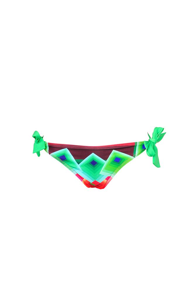 2944d2253e73 Braga de traje de baño Codelic verde con estampado gráfico - Marcas ...