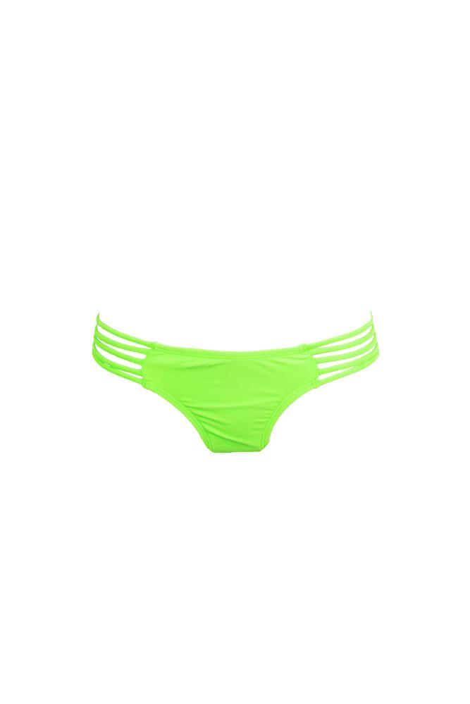Mon Itsy Bikini - Traje de baño braga verde fluo con ligas