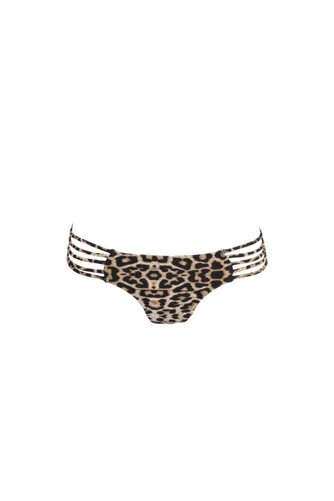 Mon Itsy Bikini - Traje de baño braga estampado leopardo con ligas