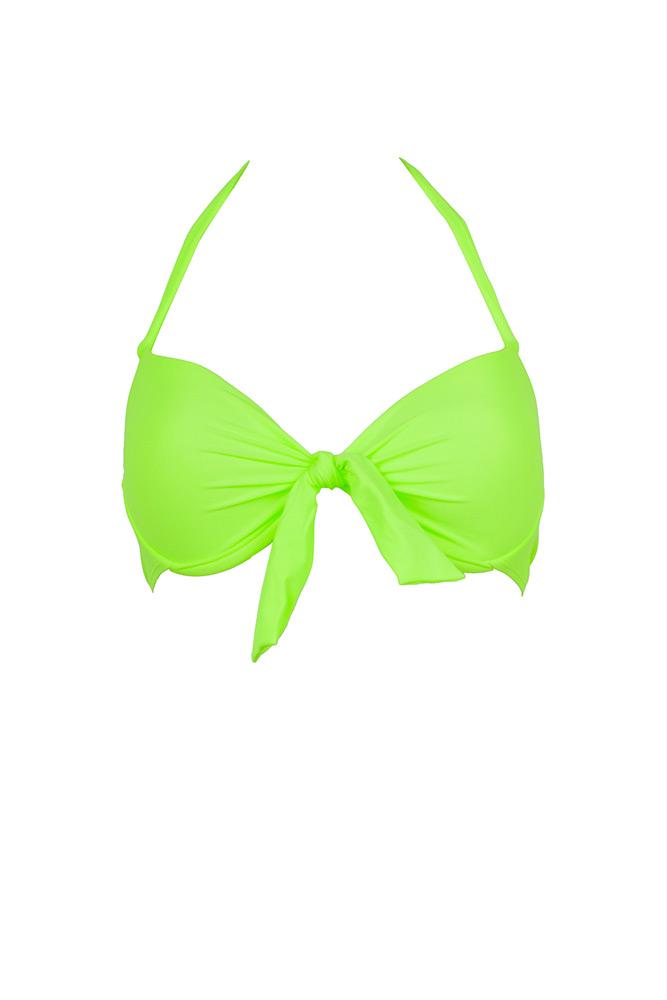 b89d82922e60 Top de traje de baño balconnet Verde Fluo - Monpetitbikini 2015