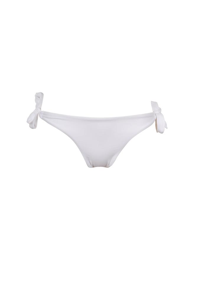 Mon Mini Bikini - Traje de baño tanga blanca con nudos