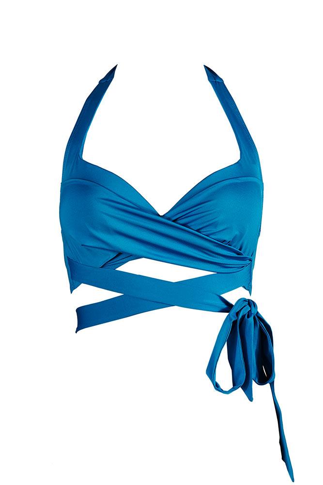 Trajes De Baño Azul Turquesa:Traje de baño triángulo azul turquesa Caribbean Dream (top)