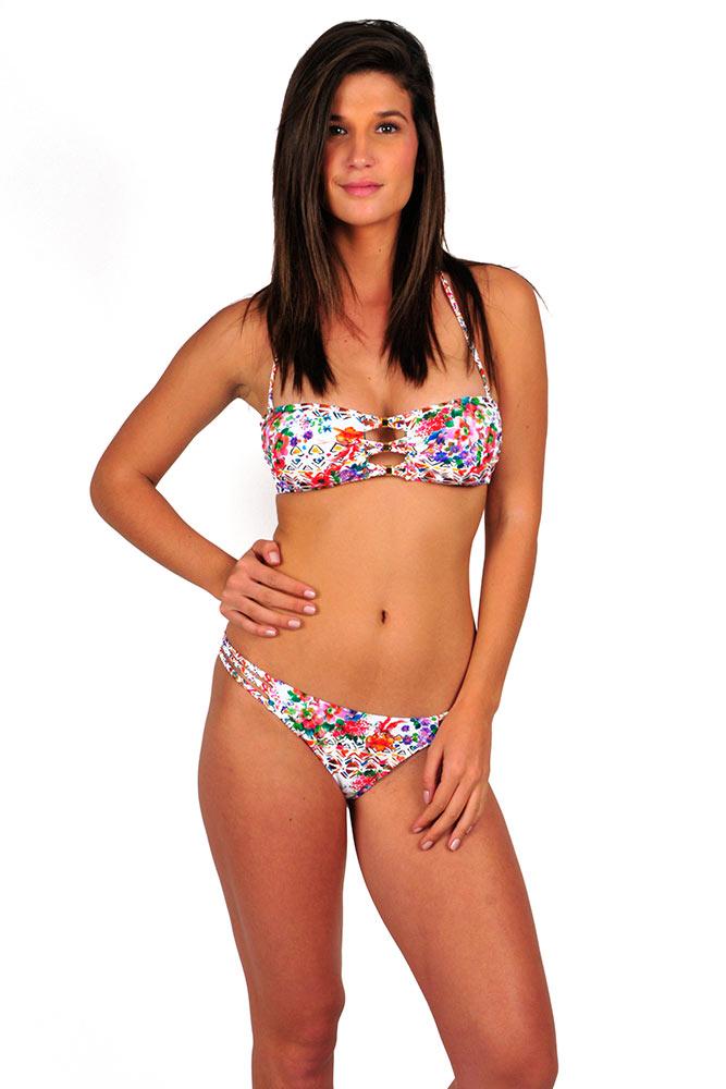 Traje de ba o mujer tendencia flores 2016 bikinis baratos bandeau - Extractores de bano baratos ...
