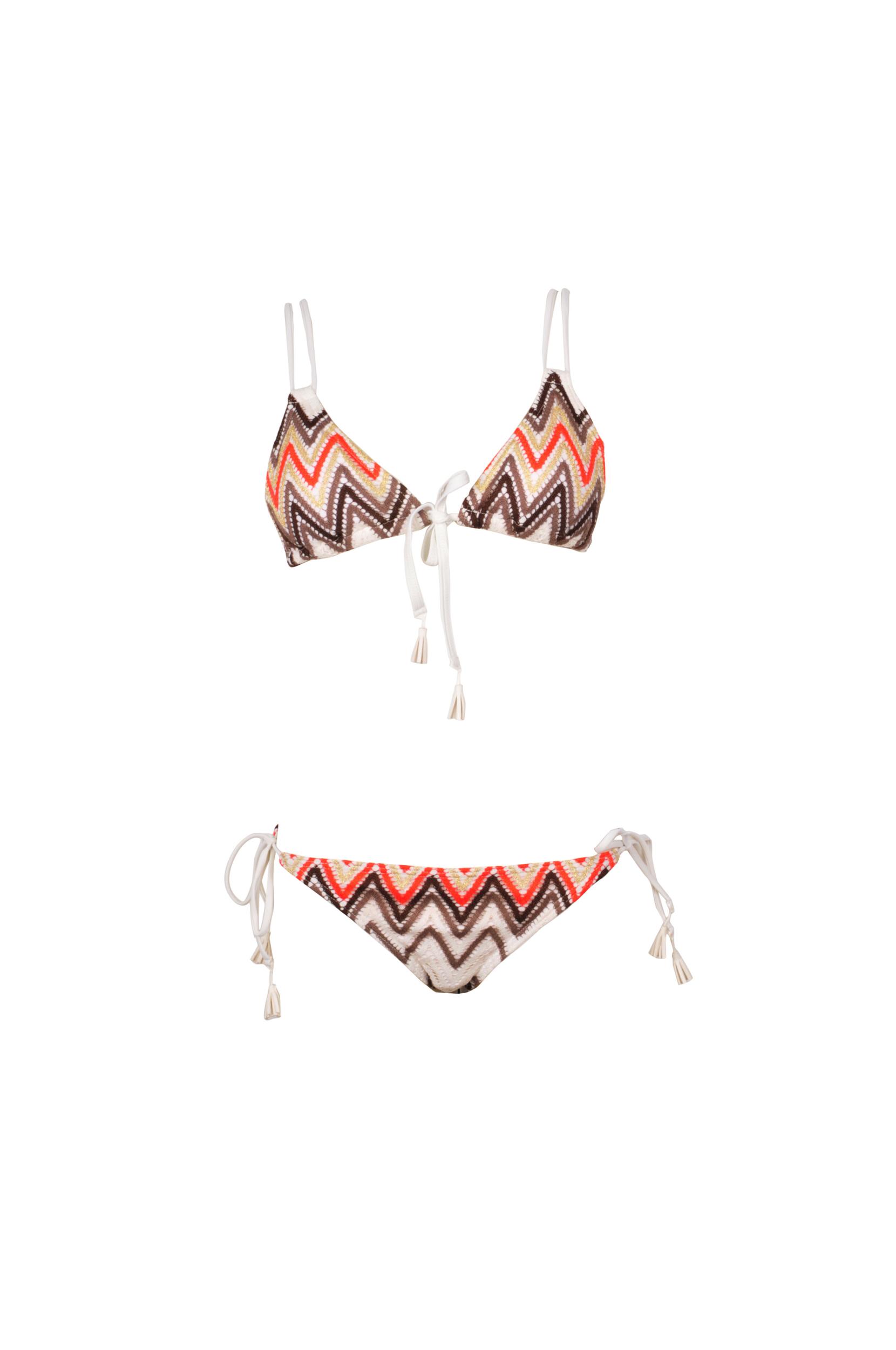 b3f973842b82 Bikini triángulo Beige mutlicolor 2 piezas