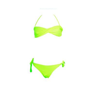 Bikini niña color amarillo fluorescente