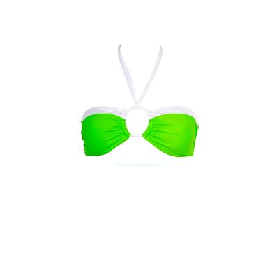 Top de traje de baño Bikini Bar - Bandeau relleno verde fluo Sand