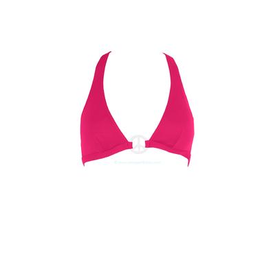 Bikini Bar - Top de traje de baño triángulo con sujeción rosa fucsia Peace