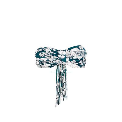 Huit - Top de traje de baño bandeau estampado Flower bay