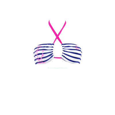Banana Moon - Top de traje de baño bandeau marino rosa fluo Rockport
