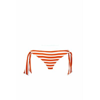 Seafolly - Braga de traje de baño con nudos Seaview rayas naranja coral
