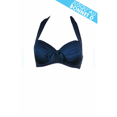 Halter azul añil - Sujetador push up Seafolly