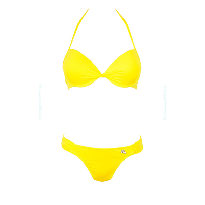 Conjunto de traje de baño de 2 piezas Lolita Angels - Balconnet push-up amarillo limón Unicool