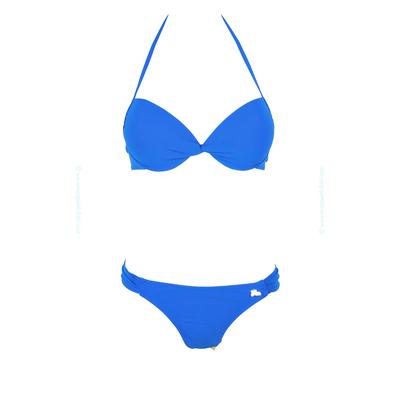 Conjunto de traje de baño de 2 piezas push-up Lolita Angels - Balconnet twist azul océano Playa Link Unicool