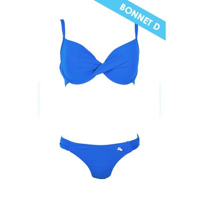 Maillot de bain 2 pièces bonnet D Lolita Angels - Balconnet twist bleu roi Unicool