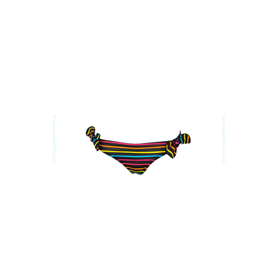 Braga de traje de baño para niñas Lolita Angels - Braguita con rayas multicolores