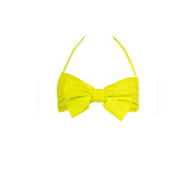 Top de traje de baño tipo bandeau con lazo amarillo limón Winner Winner - Lolli Swim