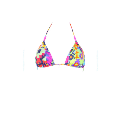 Top de Bikini triángulo Febo Tampico multicolor étnico