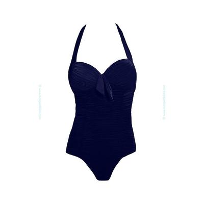 Bañador  con copas azul índigo