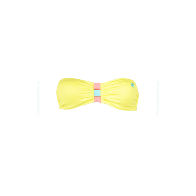 Top de traje de baño forma bandeau Banana Moon Teens amarillo Ice Cream
