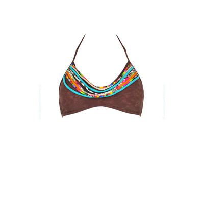 Top de traje de baño triángulo tipo brasier Yavapai marrón