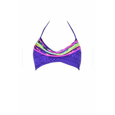 Top de traje de baño Triángulo tipo brasier Volts violeta