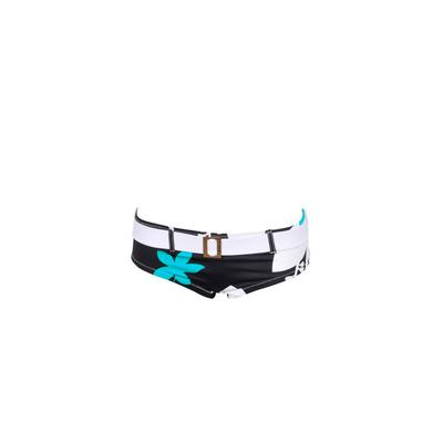 Braga de traje de baño tipo Shorty Morgan - Bikini con cinturón Amalfi y estampado negro
