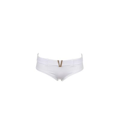 Morgan - Braga de traje de baño tipo shorty con cinturón Venizia blanco