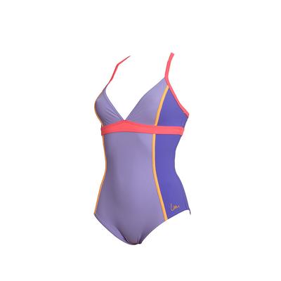 Bañador reductor Laure Manaudou - Bañador de aquagym violeta lavanda Skidrumo