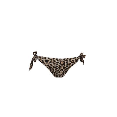 Mon Weenie Bikini - Braga de traje de baño estampado leopardo con nudos