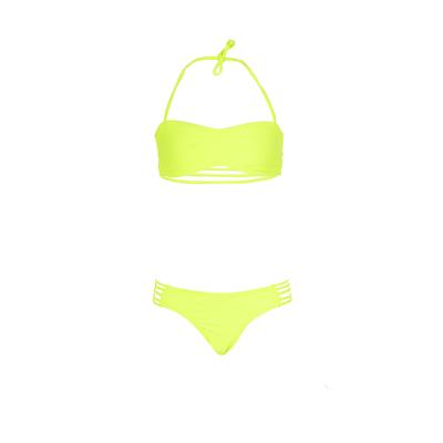 Mon Mini Teenie Bikini - Traje de baño niña 2 piezas amarillo fluo