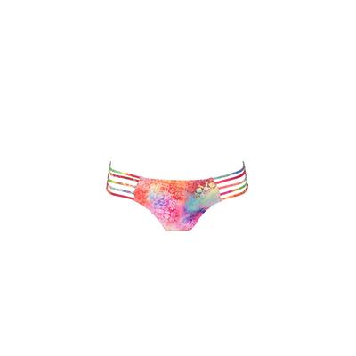 Mon Itsy Bikini Exotique- Braga clásica de traje de baño multicolor multiligas