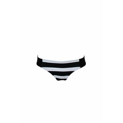 Braga clásica de traje de baño negra con rayas blancas Tresca