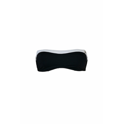 Top de traje de baño banda negro y blanco Florida