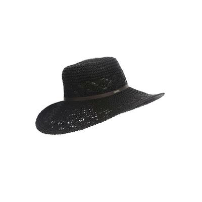 Sombrero de playa negro Kittles Hatsy