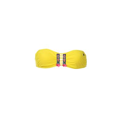 Traje de baño banda Totem amarillo limón (top)