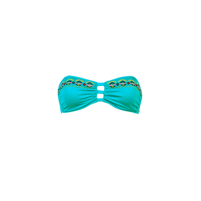 Bikini bandeau verde esmeralda Bluebell (top)
