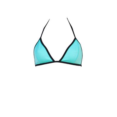 Traje de baño triángulo azul con efecto neopreno Cardio Banana Moon Teens (top)