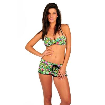 Pantalón corto de playa verde Pomtropical