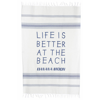 Futa de playa azul marino Medina