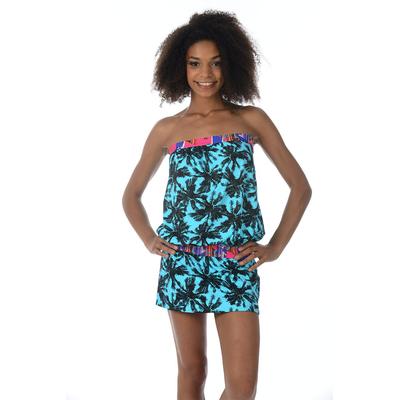 Vestido de playa azul turquesa Tulum Miami